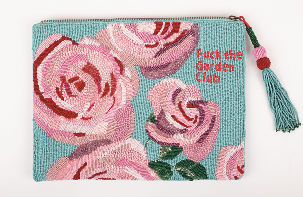 FUCK THE GARDEN CLUB BEADED BAG