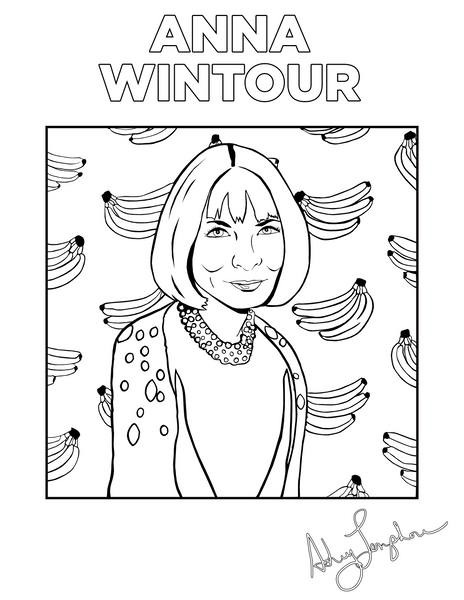 FASHION ICON COLORING PAGES