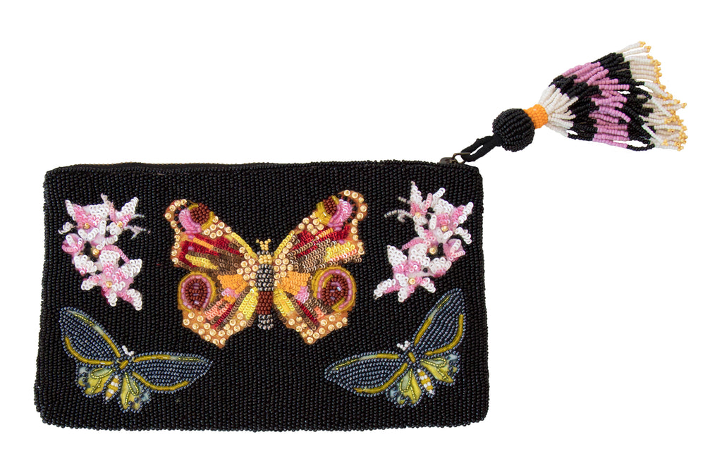 2017 BEADED BAGS: BLACK BUTTERFLY BAG