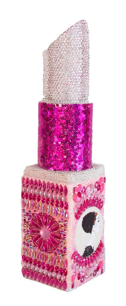 Pink and Crystal Audrey Cameo Angle Tip Lipstick Sculpture (#4 of 11)