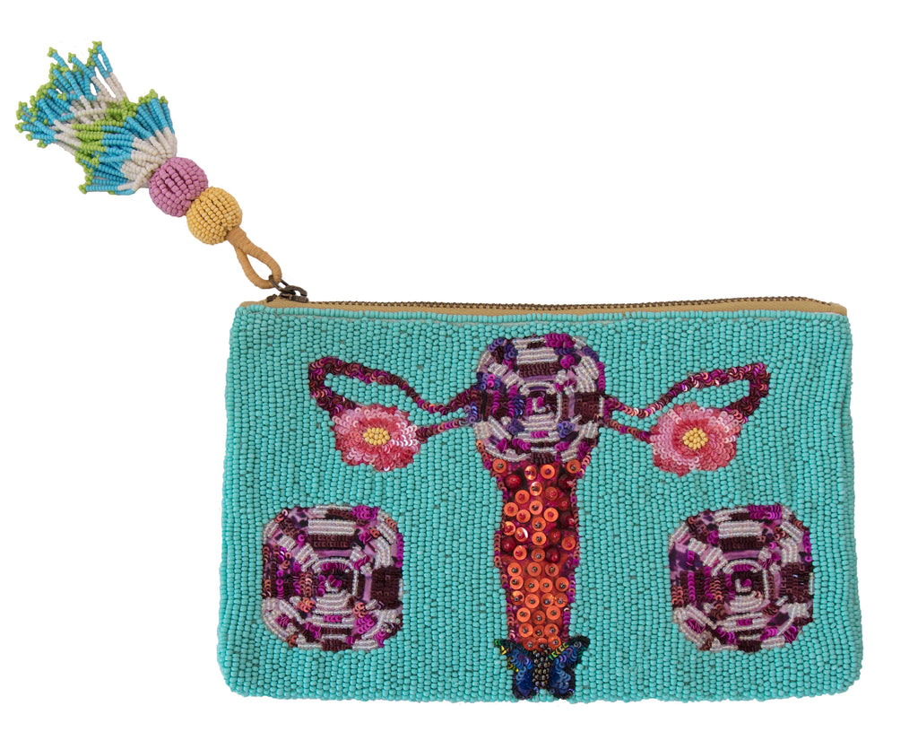 POWER PUSSY BEADED BAG