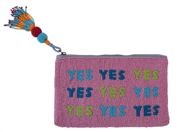 YES BEADED BAG