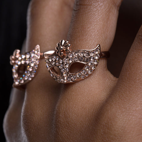 Masque - Rose gold adjustable ring