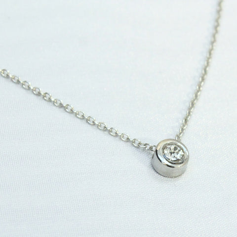 Amie - Thin silver necklace