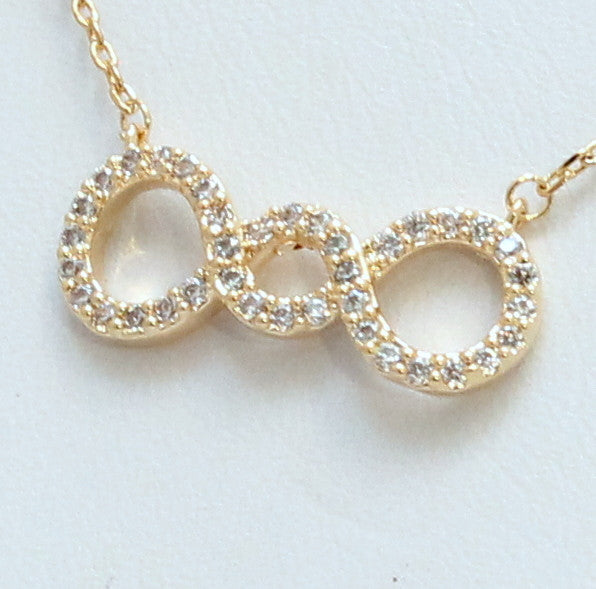 Finity8 - Thin necklace with crystals