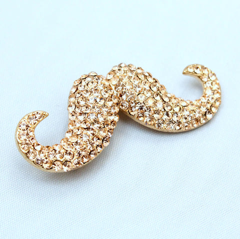 Tache - Crystal Moustache Brooch