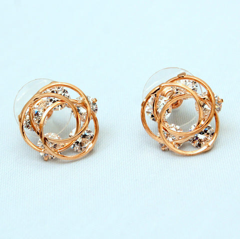 Rosa - Gold plated earrings with cryatals