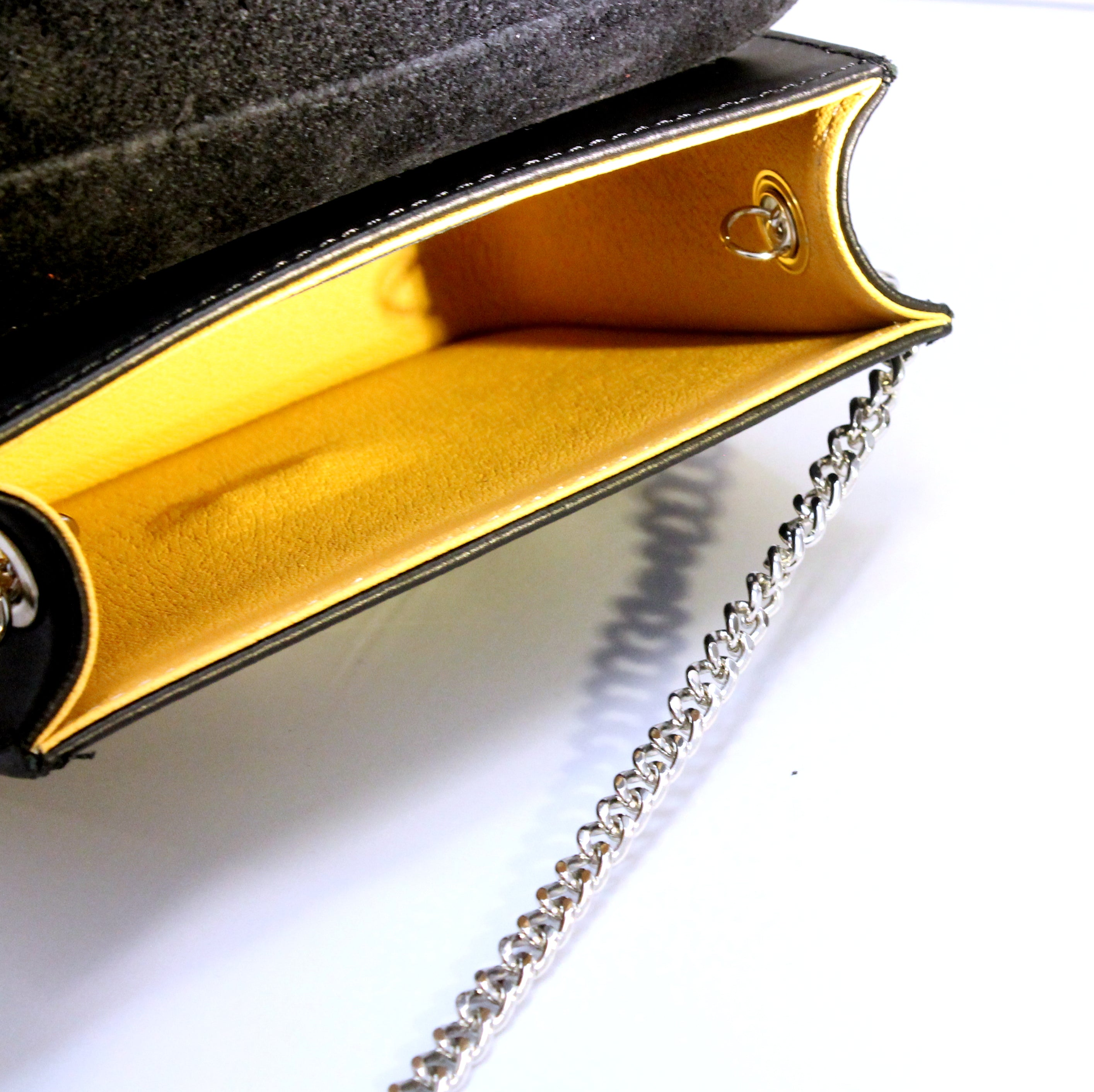 DİDEM - Black leather bag with eyes detail