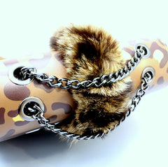 Amur - Animal face print leather bag