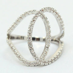 Maci - Gold plated crystal ring