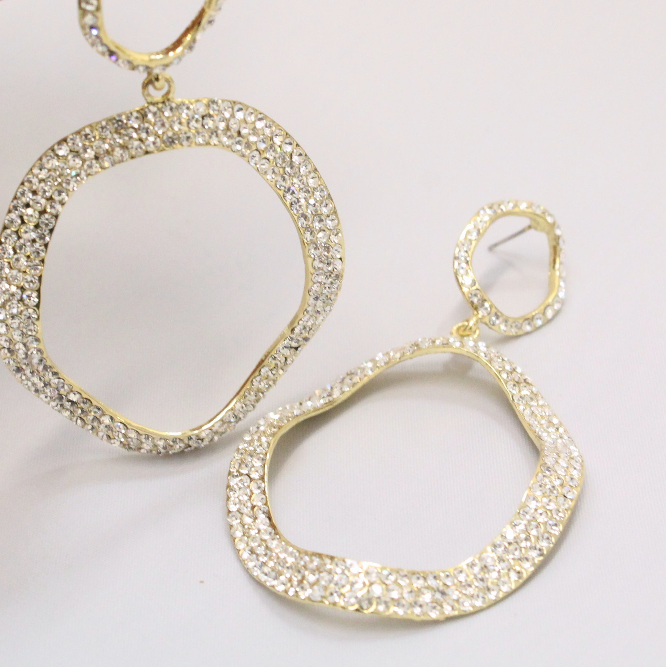 Samaira - Diamante crystal earrings