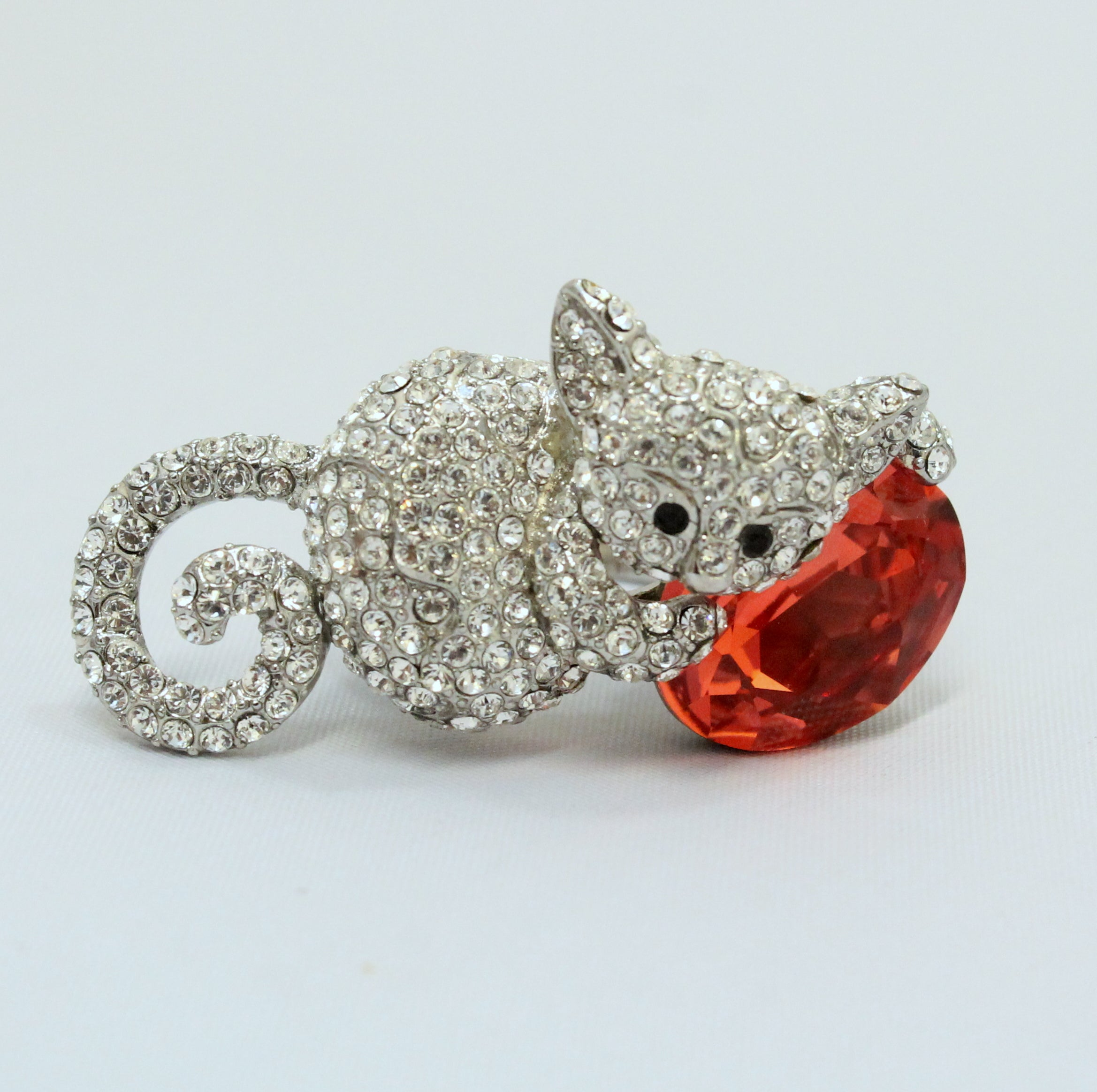 Misty - Kitty cat ring with with Swarovski