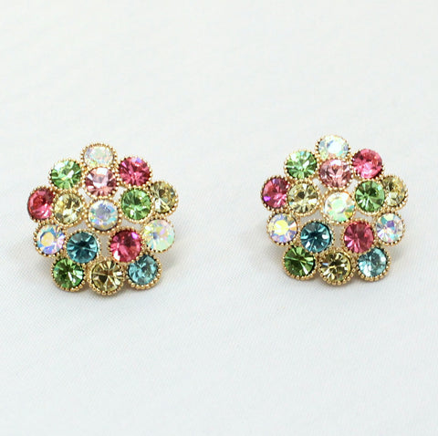 Zahara - Multicolored Stud Earrings