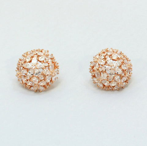 Esmeralda - Rose Gold Crystal Earrings