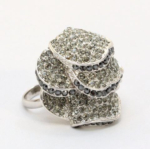 Tiffany - Diamonte Crystal Two Tone Ring