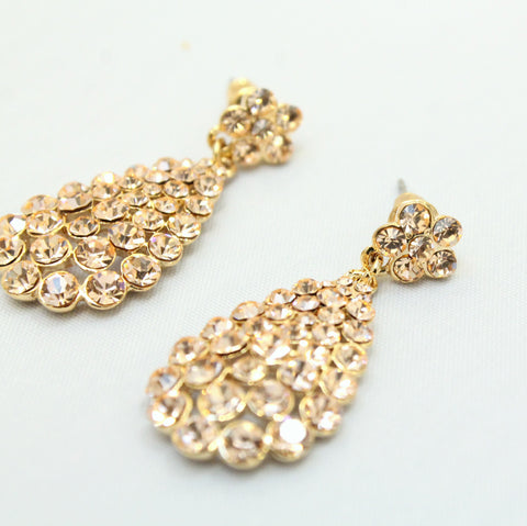 Primrose - Drop Diamonte Earrings