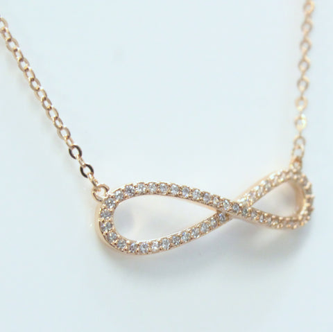 Infinity - Rose Gold Plated Thin Necklace