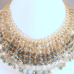 Cleo- Crystal bead Neckless