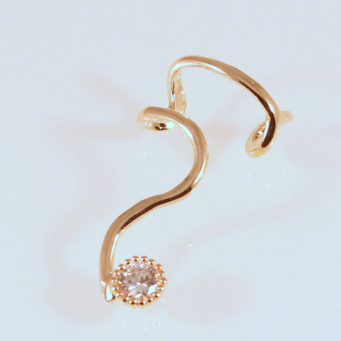 Tia - Gold plated ear cuff