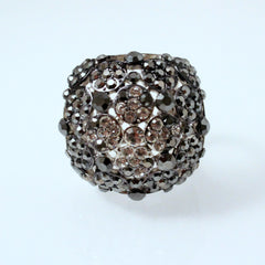 Olivia - Crystal Scarf ring