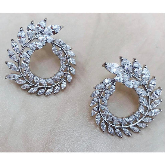 Arsh - Crystal wreaths style earrings