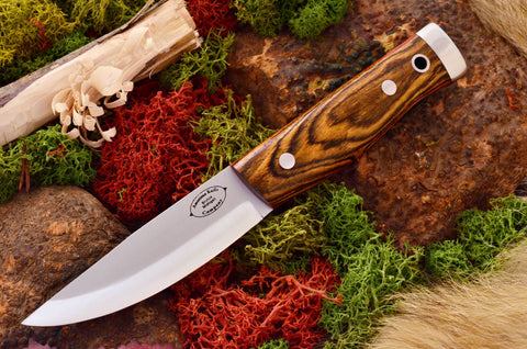 Compact Forest Knife Bocote Red liners