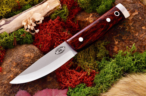Compact Forest Knife Cocobolo Red liners