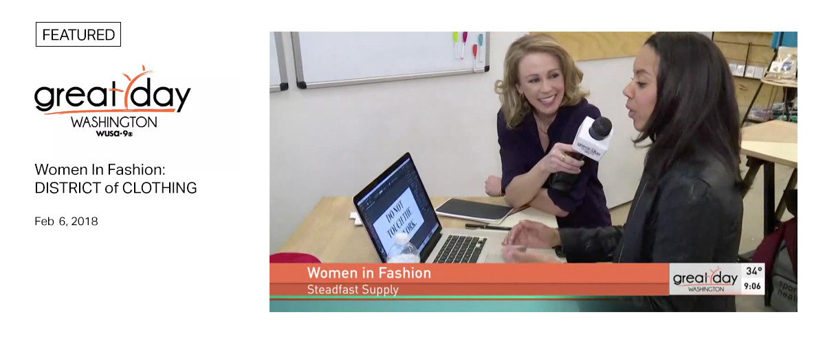 WUSA9 - Great Dat Washington - Women in Fashion: District of Clothing