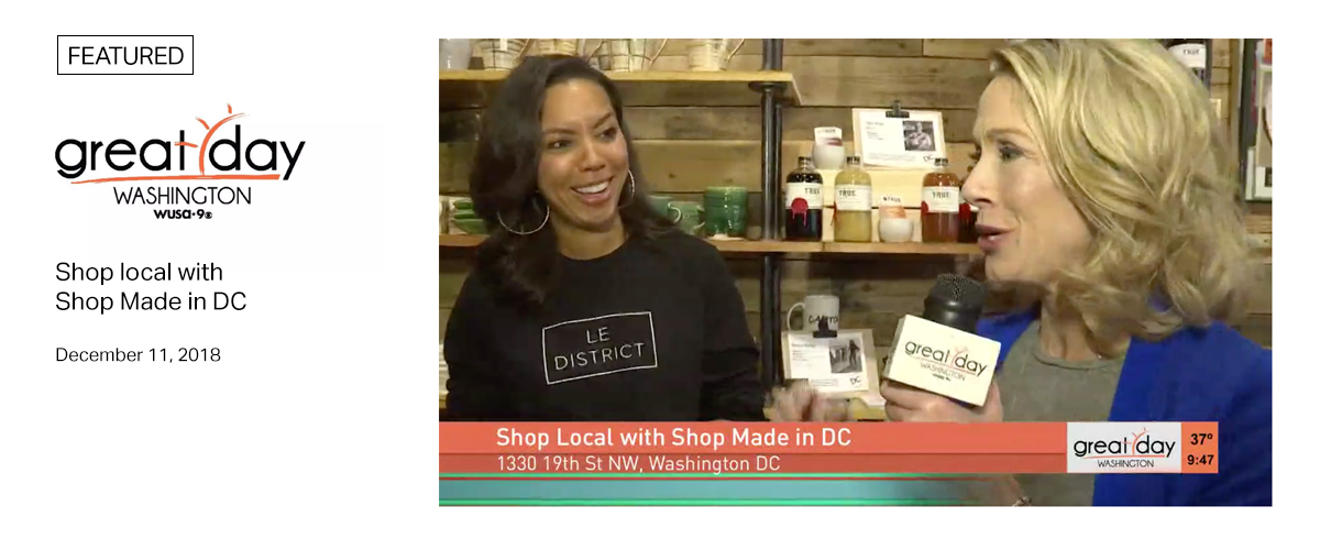 WUSA9 - Great Day Washington - Shop local with Shop Made in DC