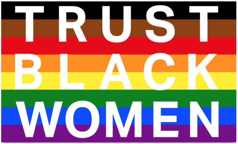 Trust Black LGBTQ+ Magnet - Black Pride Magnet - | District of Clothing - Black Women Inspirational Apparel | Black Owned Business