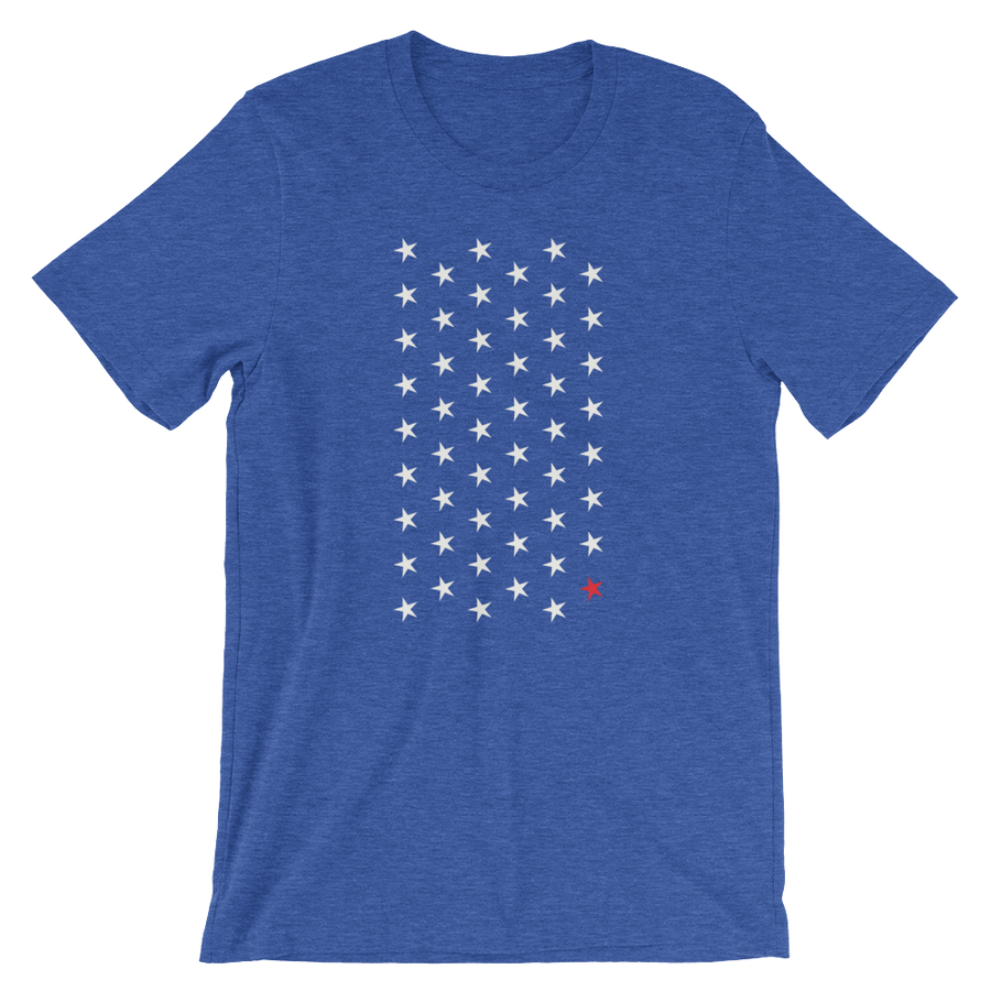 No. 51 Tee - Washington D.C. Themed - Blue | District of Clothing - DC Statehood Apparel | Woman Owned Business
