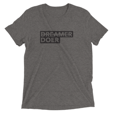 Doer - Inspirational Activism T-Shirt - Grey Triblend | District of Clothing - Activist Lifestyle Apparel | Black Owned Business