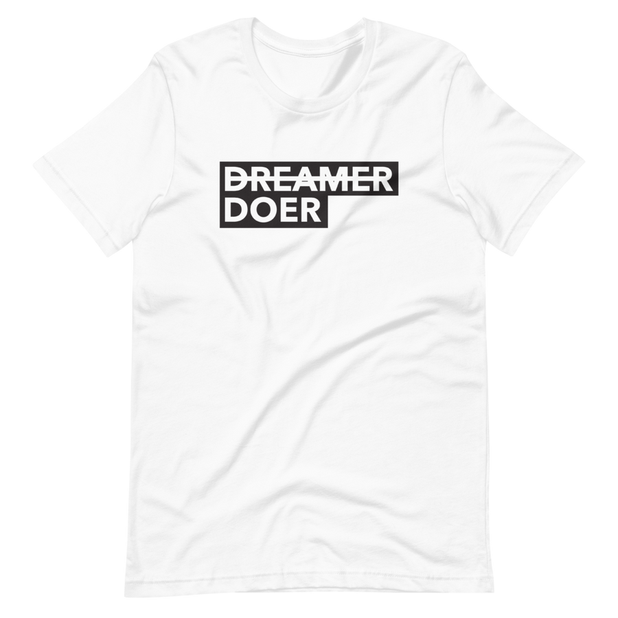 Doer - Socially Conscious T-Shirt - White | District of Clothing - Activism Apparel | Woman Owned Business