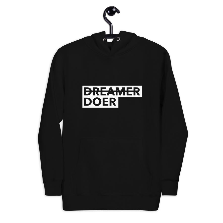 Doer Hoodie - Motivational Activist Sweatshirt - Black | District of Clothing - Social Awareness Clothing | Black Woman Owned Company