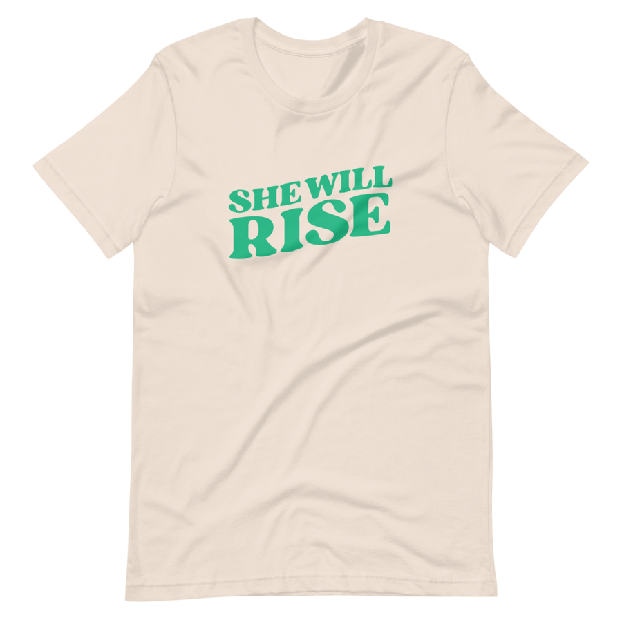 She Will Rise Signature - She Will Rise T-Shirt - Green - Confirm First Black Woman to Supreme Court | District of Clothing - Inspire Clothing | Woman Owned Business
