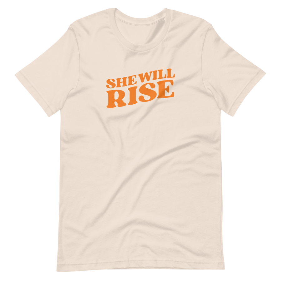 She Will Rise Signature - #SheWillRise T-Shirt - Orange | District of Clothing - Inspiration Apparel | Black Owned Business