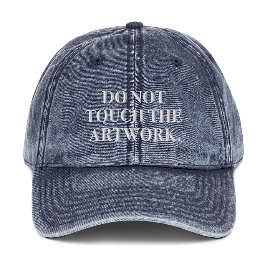 Do Not Touch Hat - #MeToo Hats - Navy | District of Clothing - Inspiration Apparel | Black Owned Business