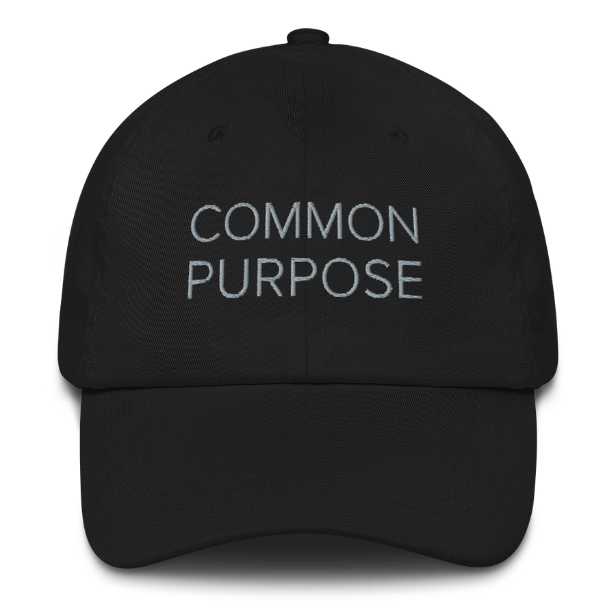 Common Purpose Hat - Fashion Inspirational Quotes Hats - Black | District of Clothing - Inspiration Apparel | Black Owned Business