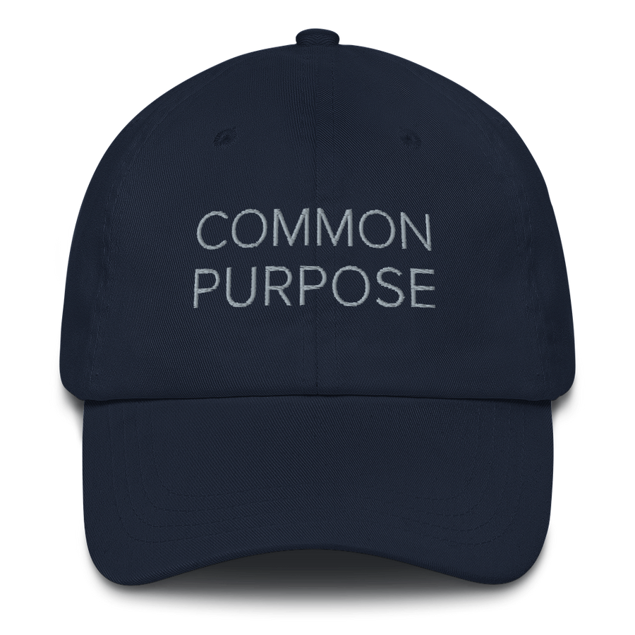 Common Purpose Hat - Motivational Quotes Hats - Navy | District of Clothing - Motivational Clothing | Black Woman Owned Company
