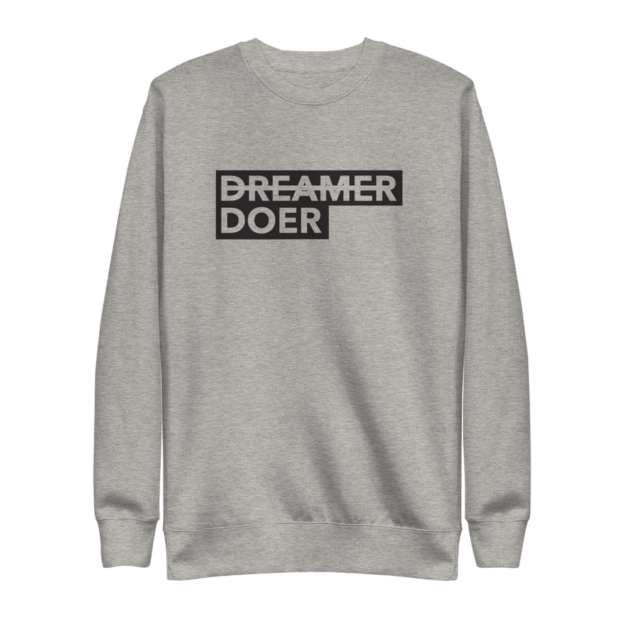 Doer Pullover - Inspirational Activism Sweatshirt - Carbon Grey | District of Clothing - Activist Lifestyle Apparel | Black Owned Business
