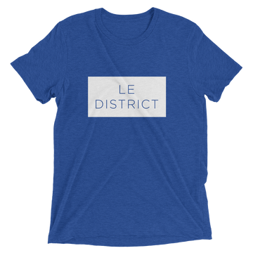 Le District - Washington D.C. Statehood T-Shirt True Royal Triblend | District of Clothing - DC 51st State T-Shirts & Hats | Black Owned Business