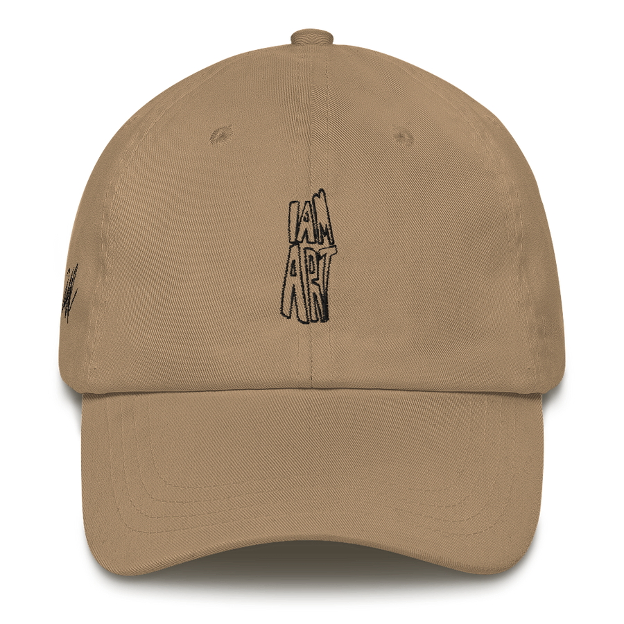 I Am Art hat - Motivational Quotes - Khaki | District of Clothing - Motivational Clothing | Black Woman Owned Company