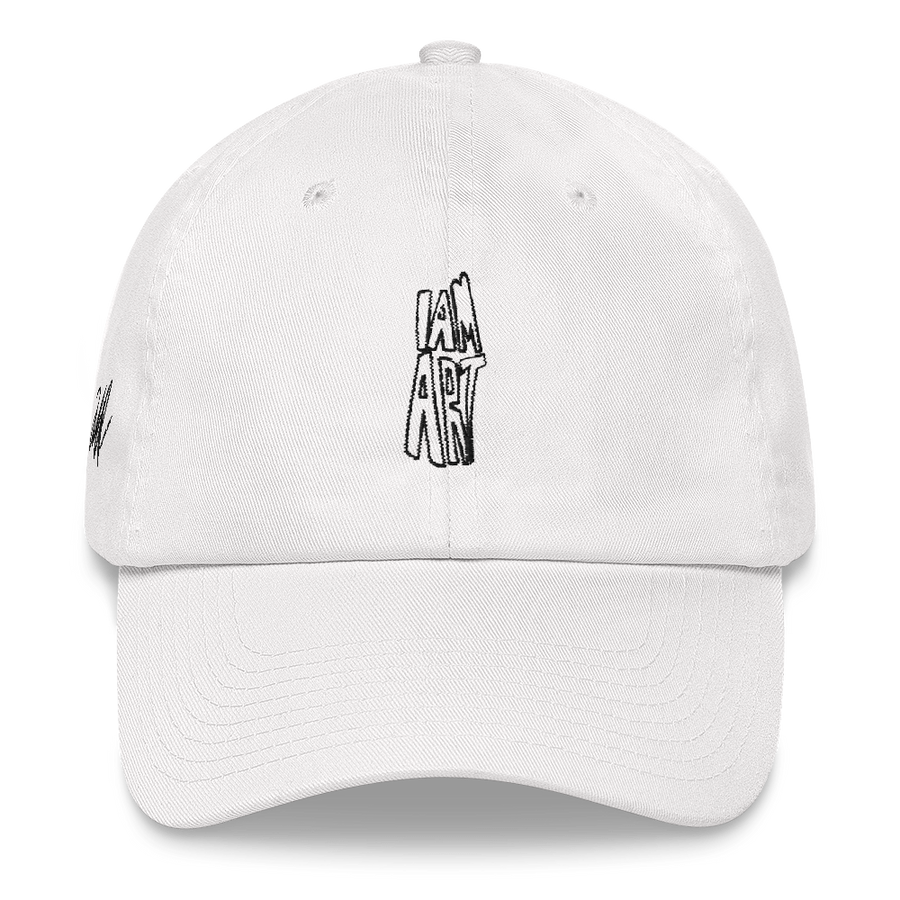 I Am Art hat - Fashion Inspirational Quotes - White | District of Clothing - Inspiration Apparel | Black Owned Business