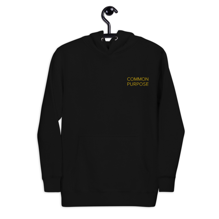 Common Purpose Hoodie - Motivational Quotes Sweatshirt - Black | District of Clothing - Motivational Clothing | Black Woman Owned Company