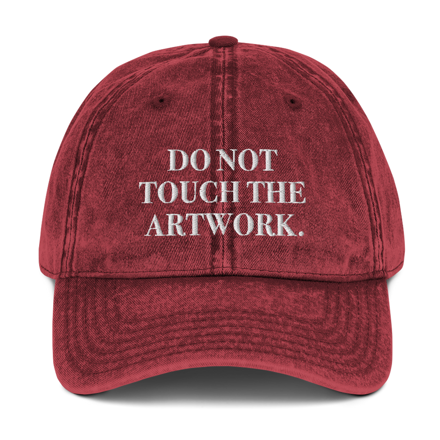 Do Not Touch Hat - #TimesUp Hats - Maroon | District of Clothing - Inspire Clothing | Woman Owned Business
