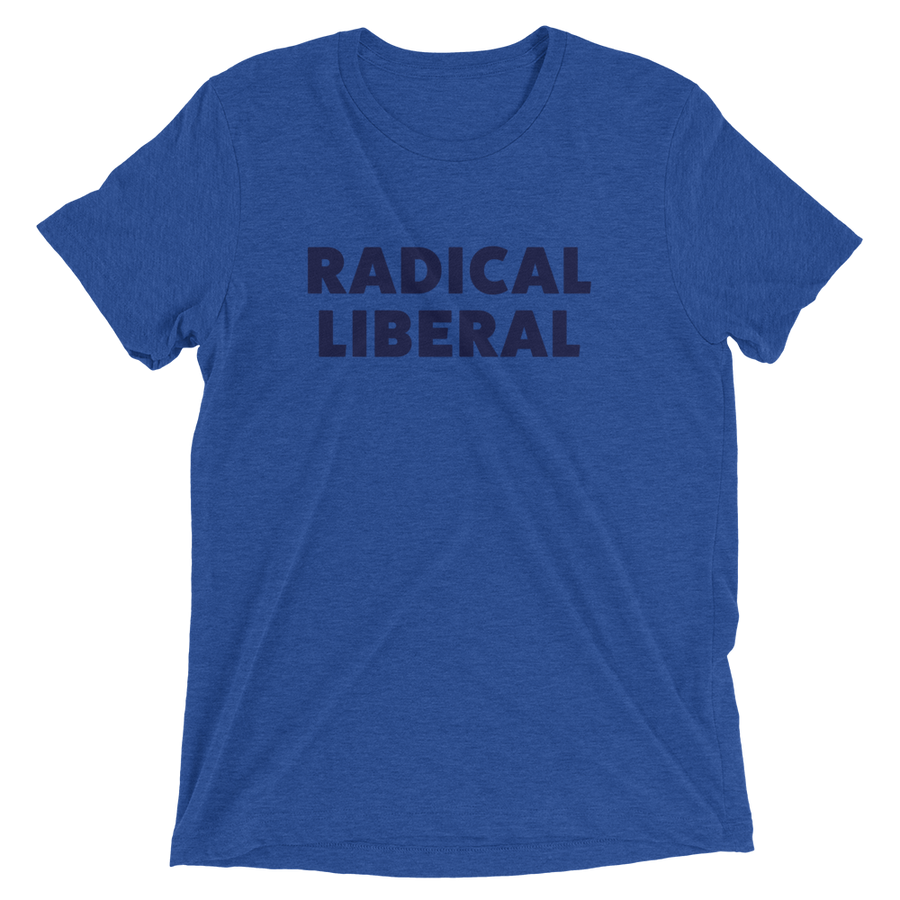 Radical Liberal - Liberal & Raphael Warnock Tee - Blue | District of Clothing - Black Women Inspirational Apparel | Black Owned Business