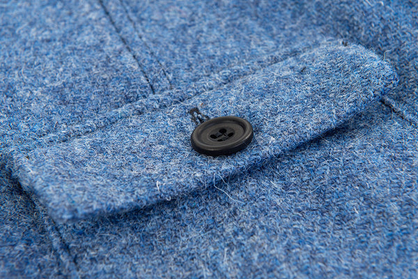 Mountain White British Made harris tweed outershirt