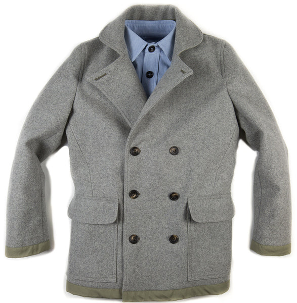 Mountain White Classic Pea Coat