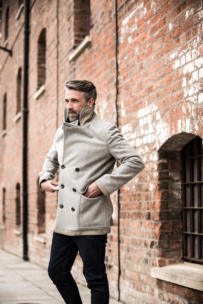 Mountain White British Made Pea Coat
