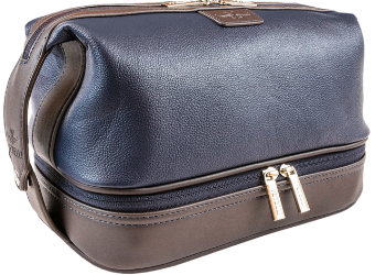 large leather toiletry bag